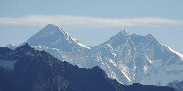 La vue du Mt Everest depuis Pike Hille