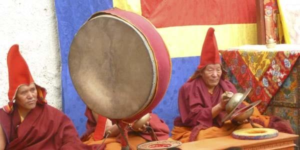 Le Lama pendant la fete du Tiji
