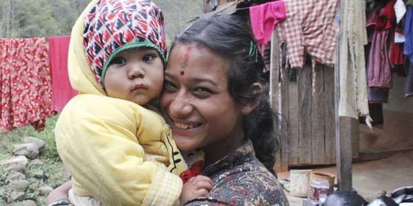 Les enfants sur le trek dans la vallee de Kathmandu