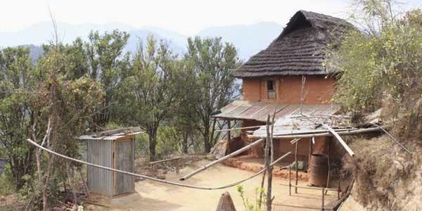 Les maisons autour de Kathmandu