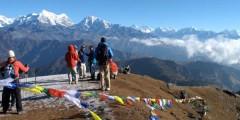 Tres belle vue des himalayas depuis Pike Hill