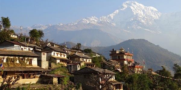 le village d'ethnic Gurung dans les Annapurnas