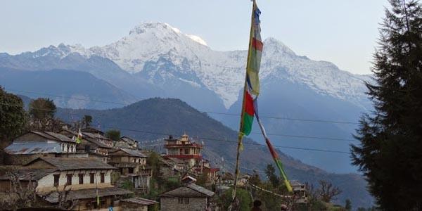 le vue des Annapurnas